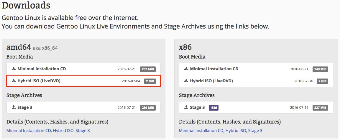 Installation — Gentoo Guide 1 0 4 documentation